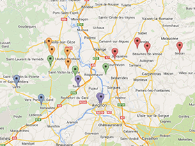 Roaming the Rhone Map